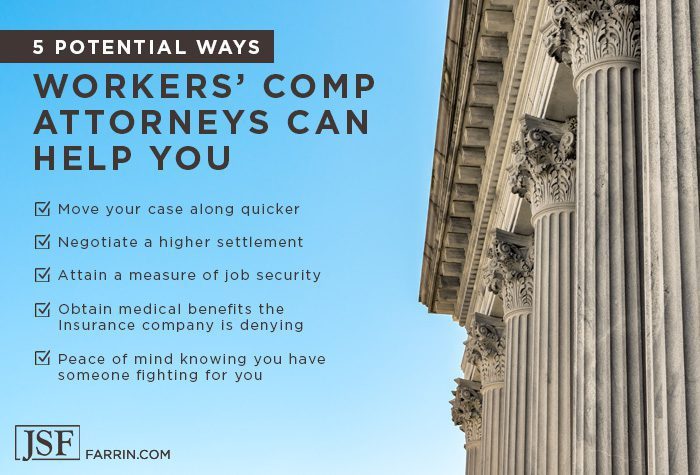 5 potential ways workers' comp attorney can help your case including speed, negotiations, and peace of mind