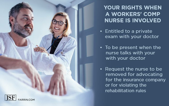 Your rights when a workers' comp nurse is involved on your case.