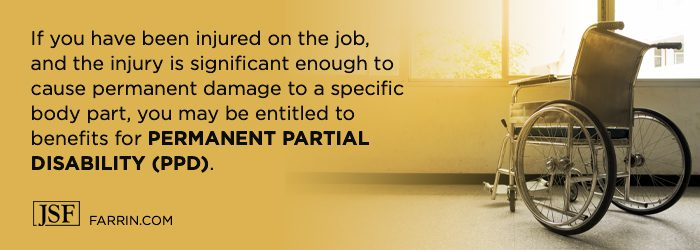 Permanent partial disability may be possible if hurt at work enough to permanently damage a body part