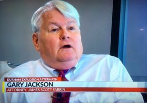 Attorney Gary Jackson on CBS17 news discussing the Durham explosion
