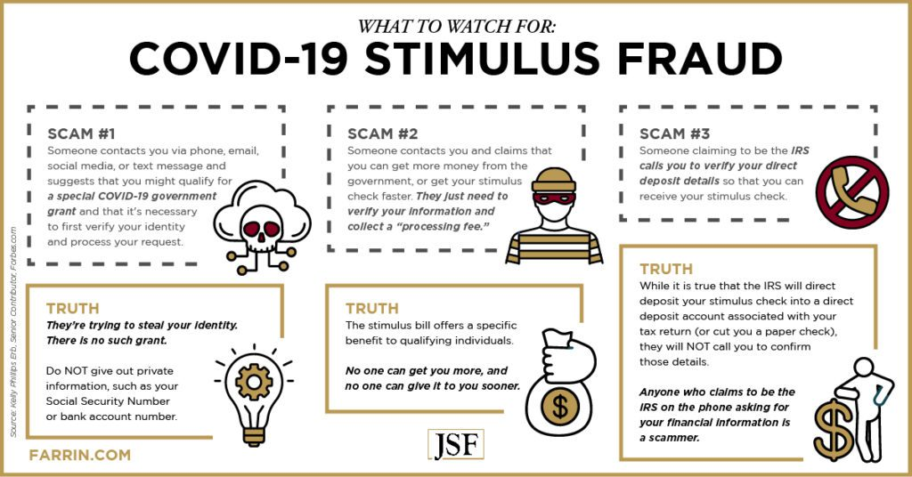 Three scams to watch for with COVID-19 stimulus fraud
