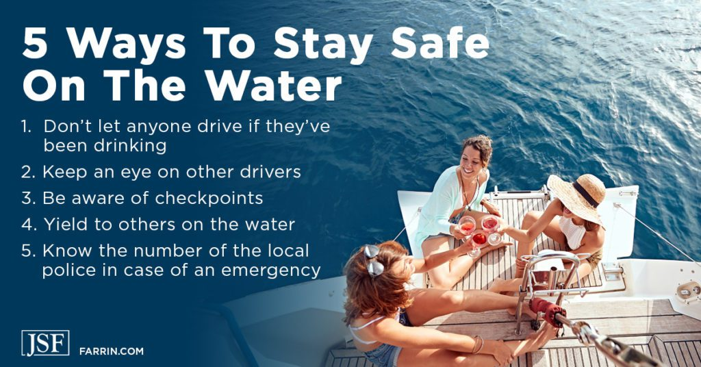 5 ways to stay safe on the water including yielding, knowing checkpoints and the local police number