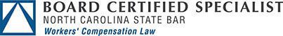 Board Certified Specialist North Carolina State Bar Workers' Compensation Law logo