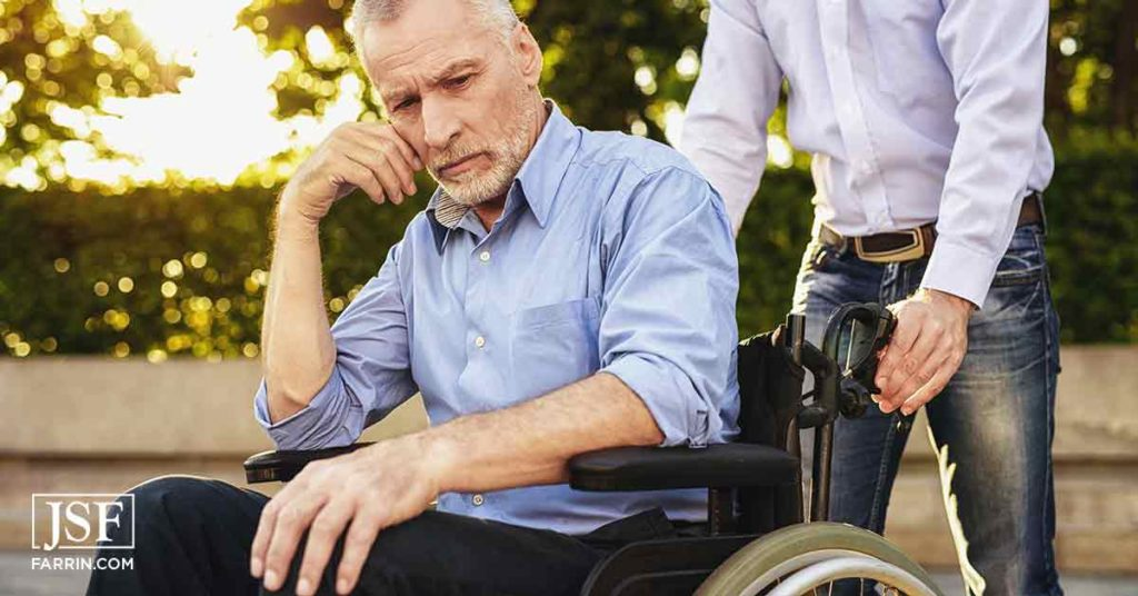 Man in a wheelchair in need of social security disability benefits in Raleigh, NC