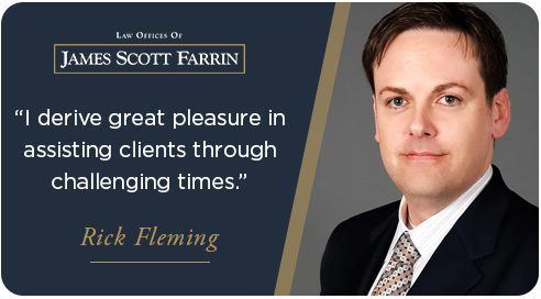 """I derive great pleasure in assisting clients through challenging times,"""" said Attorney Rick Fleming"""