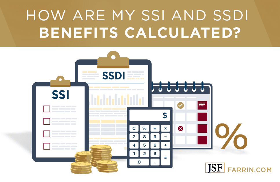 How are my SSI and SSDI benefits calculated?