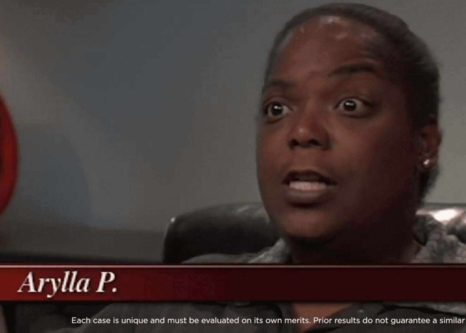 Arylla P. talking about her accident