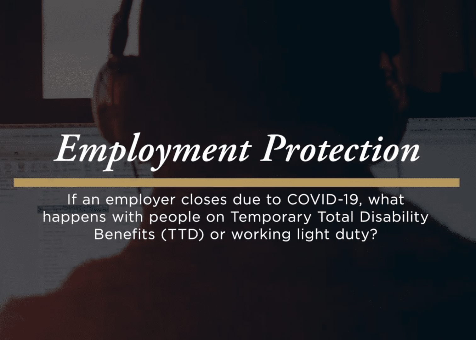 What happens with employees under workers' compensation if an employer is closed due to COVID-19?