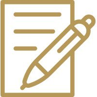 gold written note icon