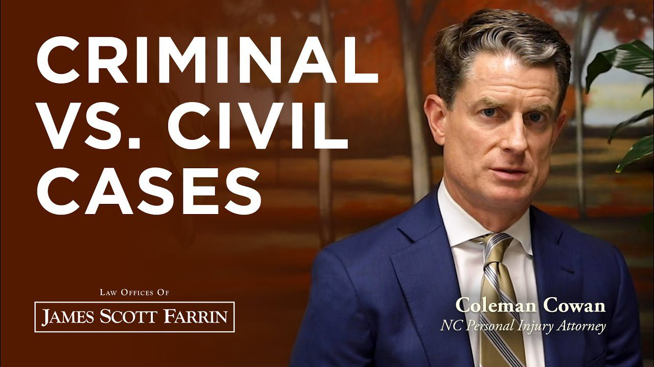 The difference between criminal vs. civil legal cases