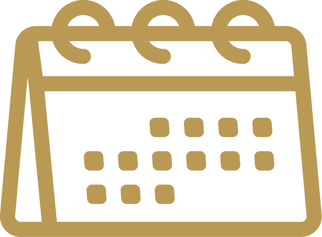 gold monthly calendar icon