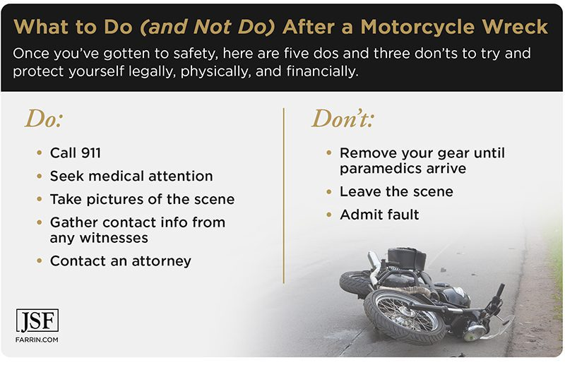 After an accident, gather info, seek medical care, and contact an attorney. Do not leave the scene or admit fault.