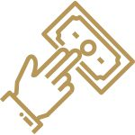 Gold lost wages icon