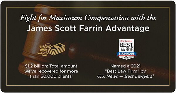 Fight for maximum compensation with the James Scott Farrin Advantage.